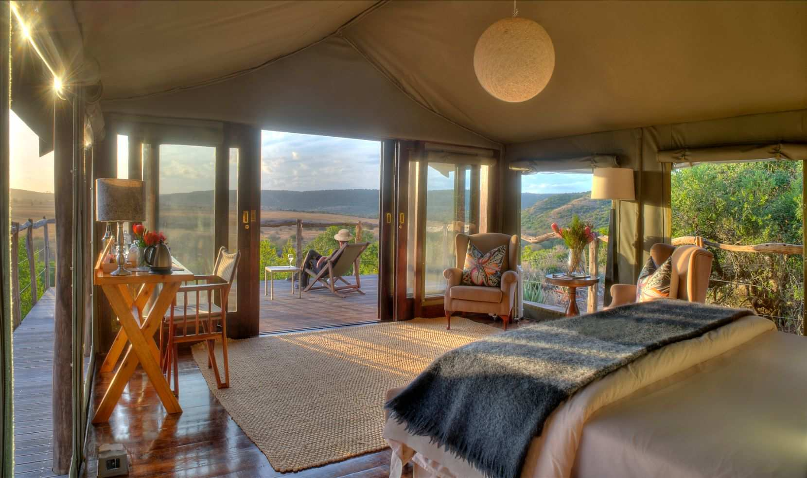 Amakhala Game Reserve Hillsnek Safari Camp Tent Views