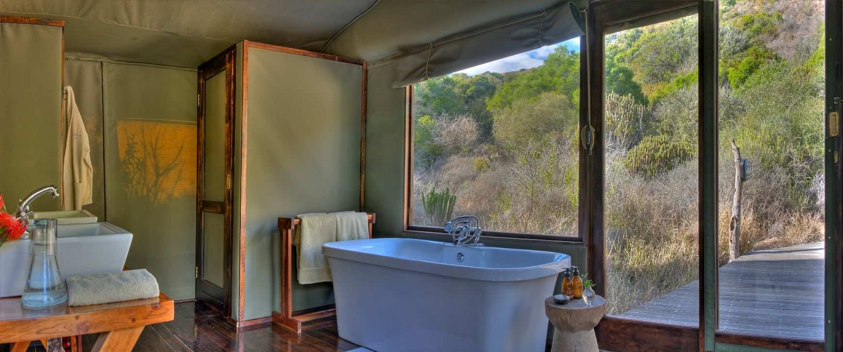 Amakhala Game Reserve Hillsnek Safari Camp Tent Bathroom