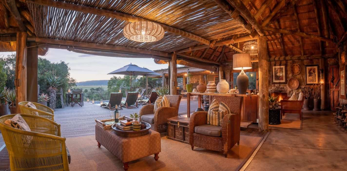 Amakhala Game Reserve Hillsnek Safari Camp Lounge Sunset