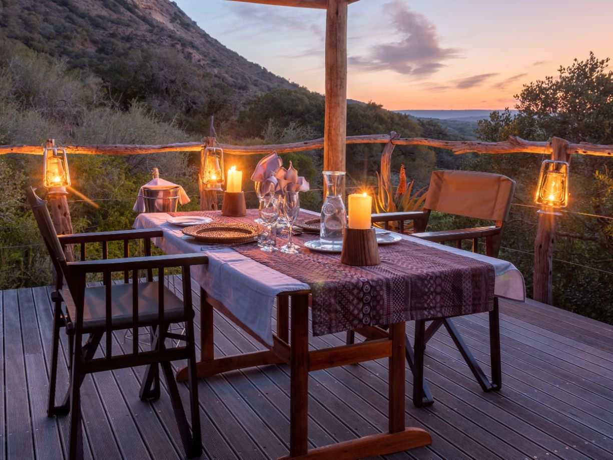 Amakhala Game Reserve Hillsnek Safari Camp Romantic Dinner