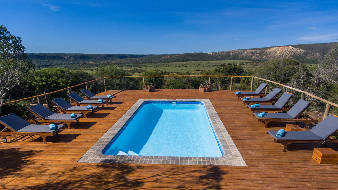 Amakhala Game Reserve Woodbury Tented Camp Pool View