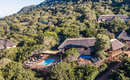 Amakhala Game Reserve Woodbury Lodge Distant Drone Shot Main Lodge
