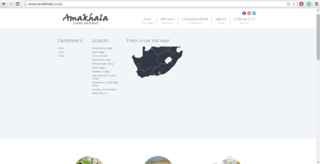 Amakhala Game Reserve Search Functionality