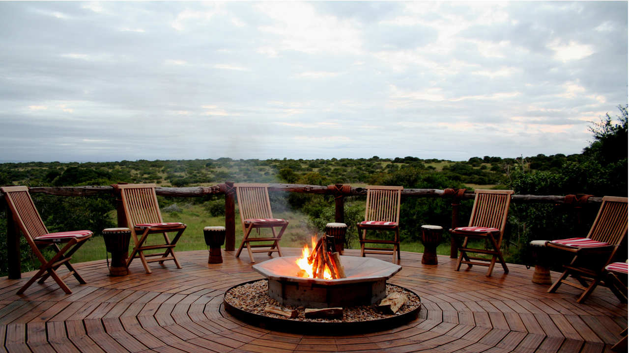 Bush Lodge Amakhala Game Reserve Boma Area View