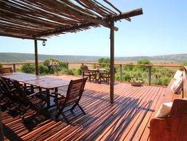 South African Game Reserve Woodbury Tented Camp Deck