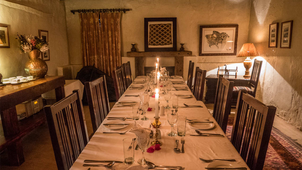 Amakhala Game Reserve Leeuwenbosch Country House Romantic Dining