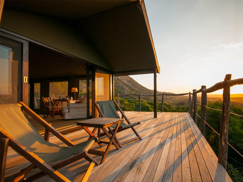 Eastern Cape Safari Greater Addo Accommodation Amakhala Game Reserve Hills Nek Safari Camp Exterior Sunrise Terrace Min