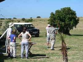 Amakhala Game Reserve Guests Archery At Hlosii