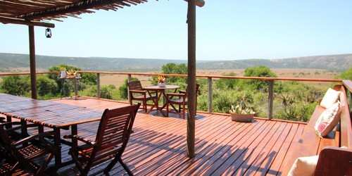 Eastern Cape Safari Accommodation Amakhala Game Reserve Woodbury Tented Camp Deck